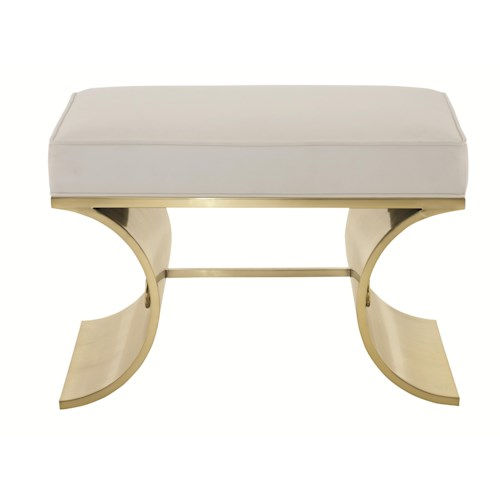 Bernhardt Jet Set Bunching Bench with Tubular Steel Frame