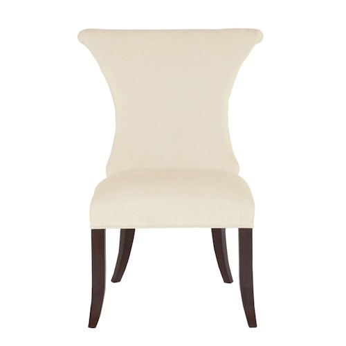 Bernhardt Jet Set Upholstered Side Chair with Ring Pull Hardware