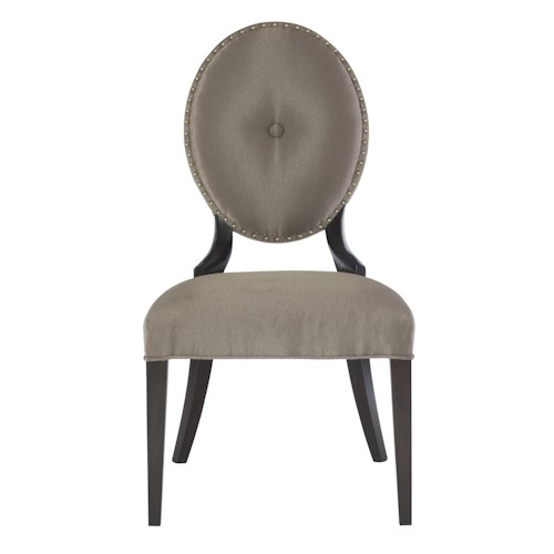 Bernhardt Jet Set Side Chair with Oval Upholstered Back
