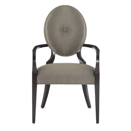 Bernhardt Jet Set Arm Chair with Oval Upholstered Back