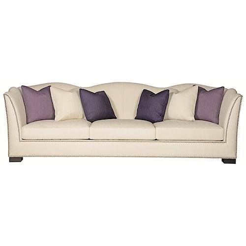 Bernhardt Kirkland  Camel Back Sofa with Modern Elegant Style