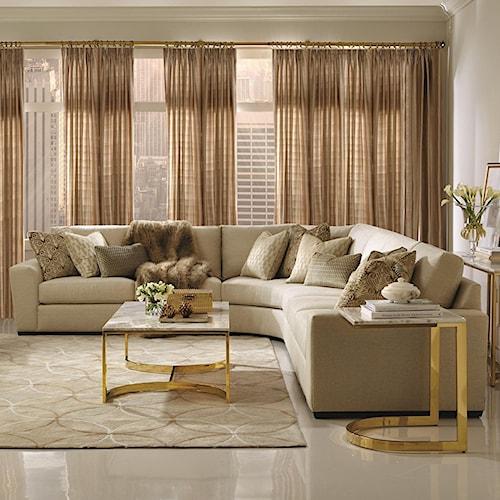 Bernhardt Lockett Sectional Sofa (Seats 5)