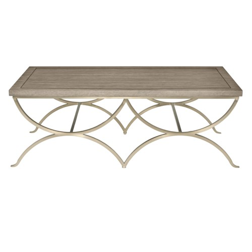 Bernhardt Marquesa Rectangular Cocktail Table with Metal Base