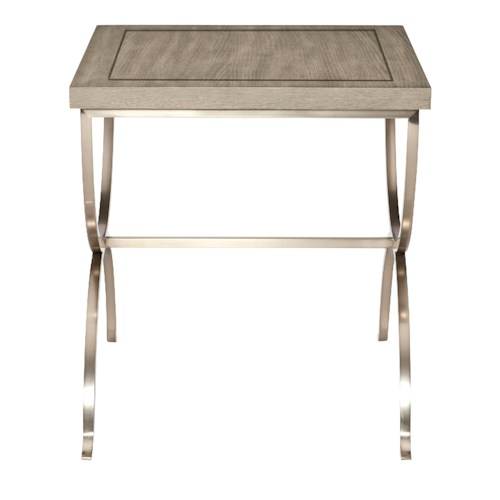 Bernhardt Marquesa End Table with Metal Base