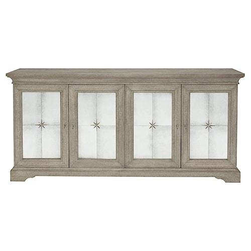 Bernhardt Marquesa 4-Door Buffet with Antique Mirror Panels