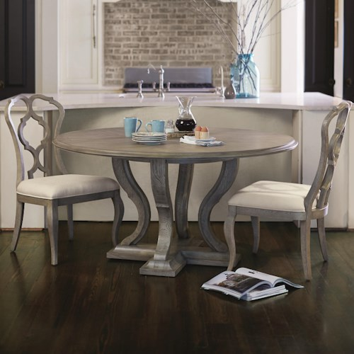 Bernhardt Marquesa 3 Piece Dining Set with Splat Back Chairs