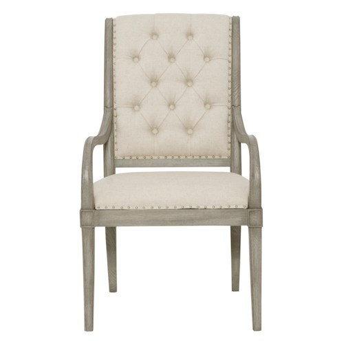 Bernhardt Marquesa Arm Chair with Button-Tufted Back