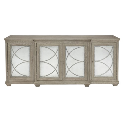 Bernhardt Marquesa Entertainment Console with Antique Glass Doors