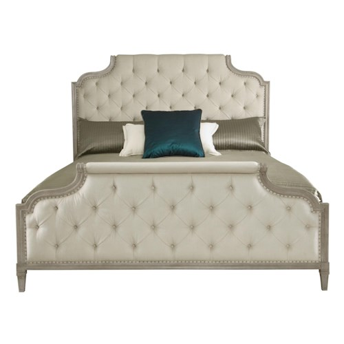 Bernhardt Marquesa California King Upholstered Bed with Button Tufting