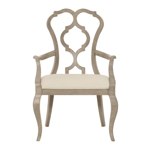 Bernhardt Marquesa Customizable Splat Back Arm Chair