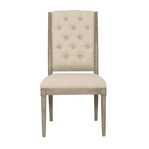 Bernhardt Marquesa Customizable Side Chair with Button-Tufted Back