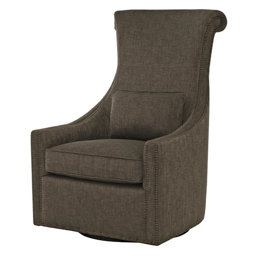 Bernhardt Maurice Maurice Swivel Chair with Transitional Style