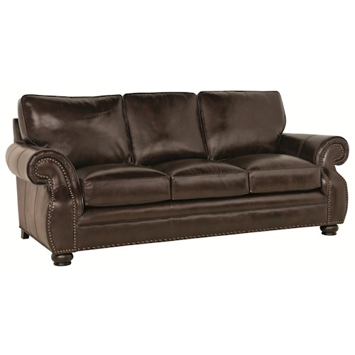 Bernhardt McHenry  Traditional Sofa with Nail Head Trim