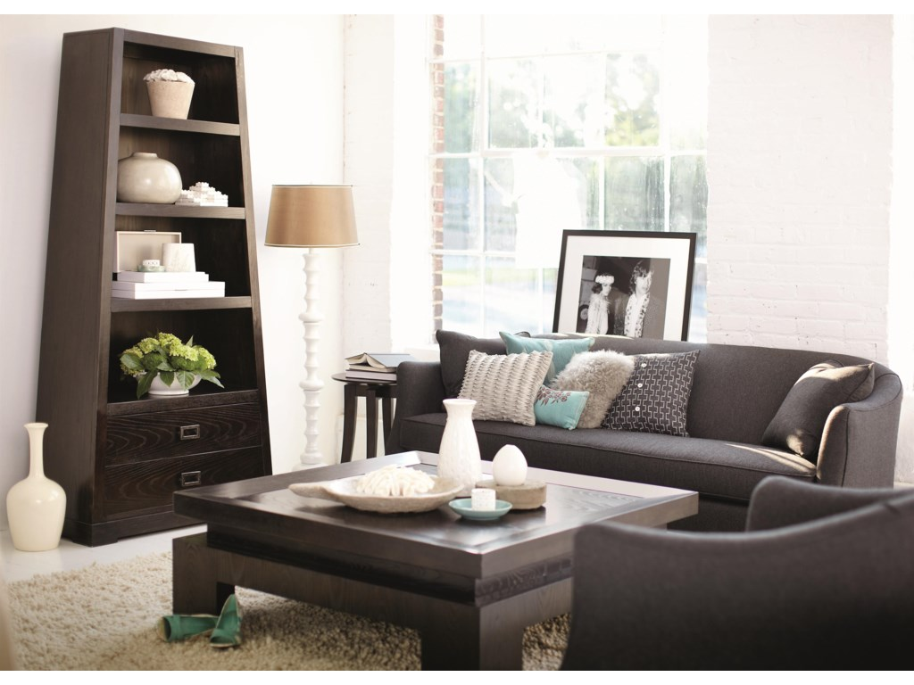 Shown with Coordinating Collection Bookcase and Chairside Table. Matching Sofa Also Shown.