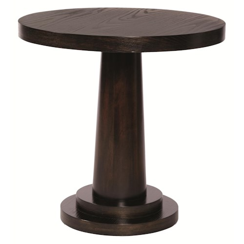 Bernhardt Mercer  Round End Table made of Mahogany and Ash