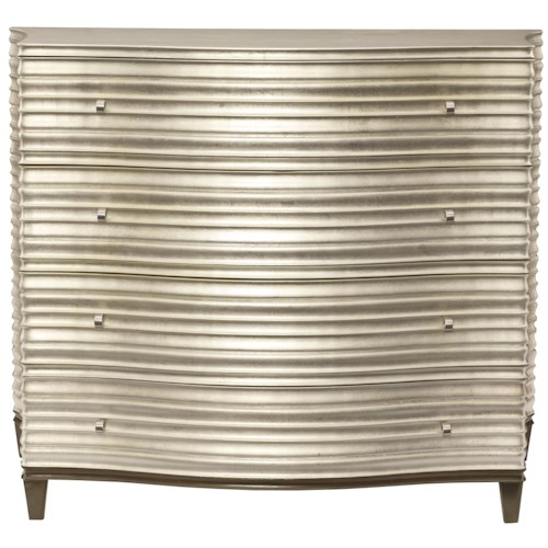 Bernhardt Miramont Chest with Shaped Overlay in Silver Sand Finish