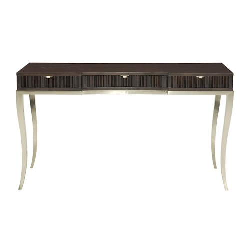 Bernhardt Miramont Desk with 3 Fluted Drawers