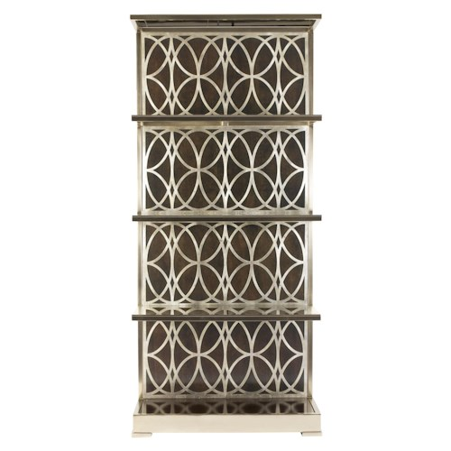 Bernhardt Miramont Metal Etagere with Decorative Grille