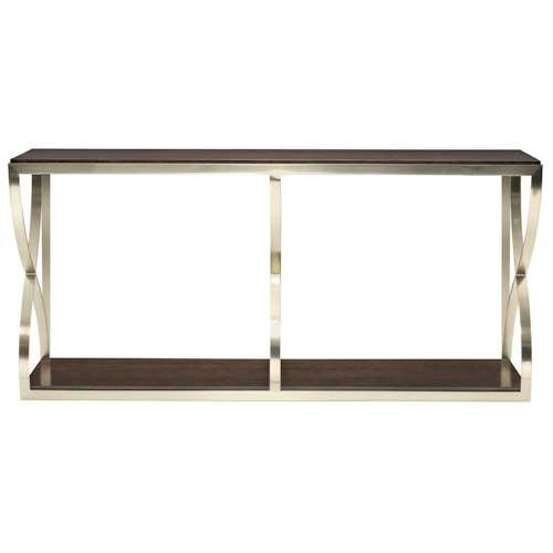 Bernhardt Miramont Console Table with X Pedestals