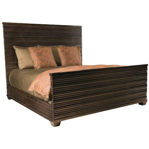 Bernhardt Miramont King Panel Bed in Dark Sable Finish