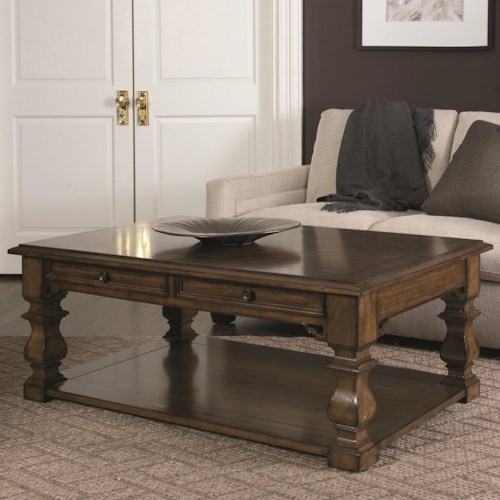 Bernhardt Montebella Cocktail Table with 2 Drawers