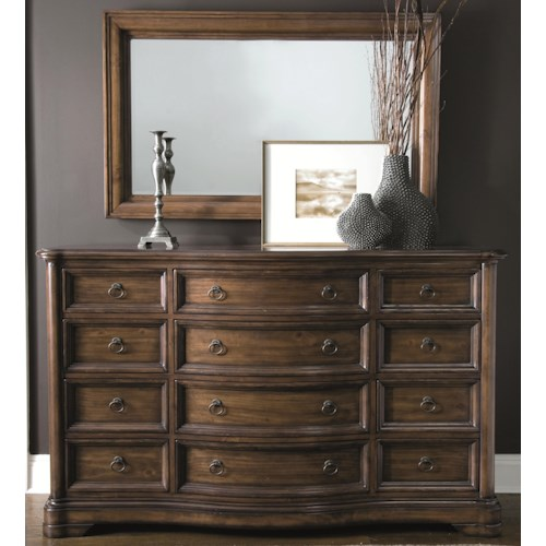 Bernhardt Montebella Dressing Chest and Mirror Set with 12 Drawers