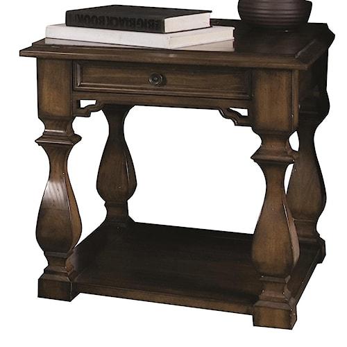 Bernhardt Montecello End Table with Shelf