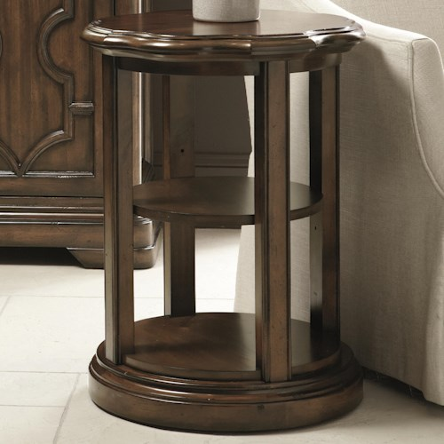 Bernhardt Montebella Round Chairside Table with 2 Shelves