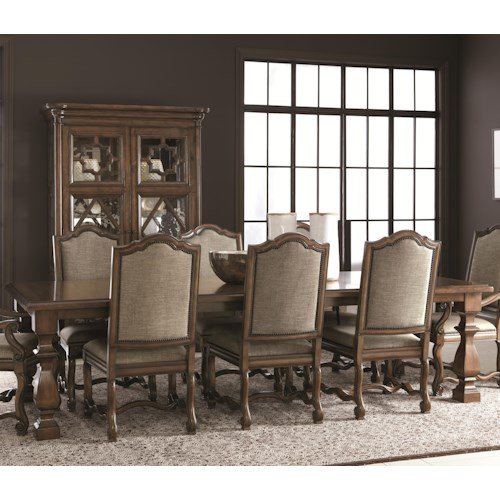 Bernhardt Montebella Dining Table with Stacked Feet