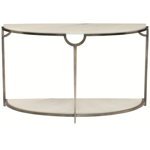 Bernhardt Morello Demilune Console Table with Faux Marble Top