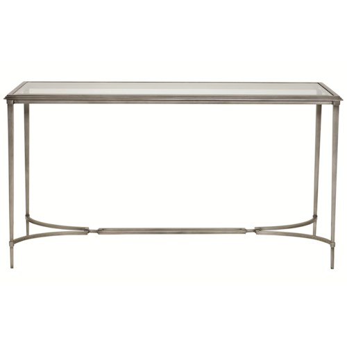 Bernhardt Newland Console Table with Tempered Glass Top