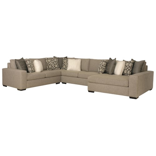 Bernhardt Orlando Sectional Sofa with Contemporary Style