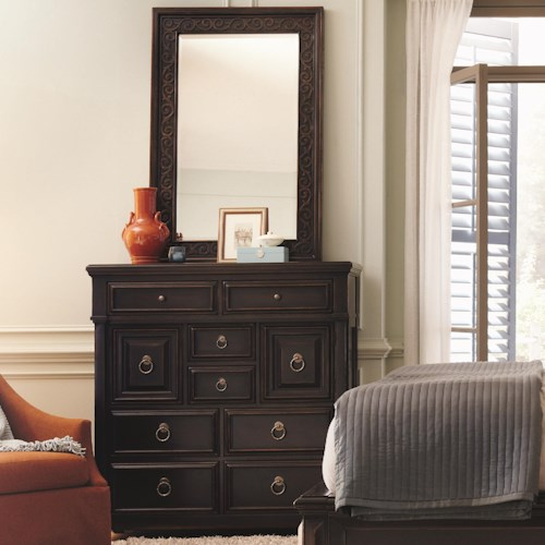 Bernhardt Pacific Canyon Tall 8 Drawer Chest with Mirror