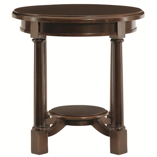 Bernhardt Pacific Canyon Round Side Table with Shelf