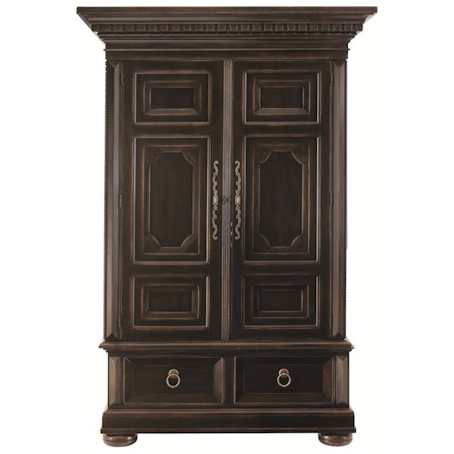 Bernhardt Pacific Canyon Armoire with Dentil Molding