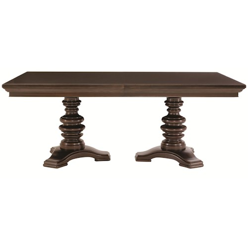 Bernhardt Pacific Canyon Rectangular Double Pedestal Dining Table