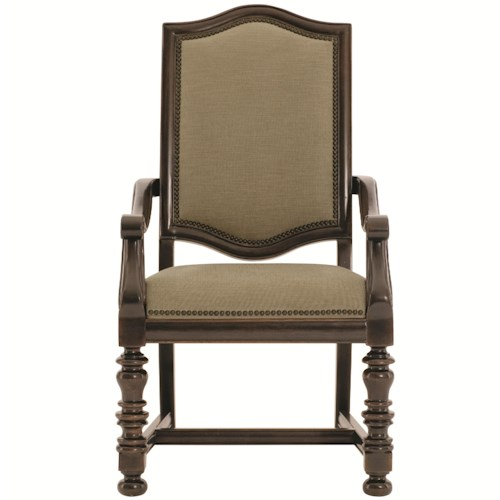 Bernhardt Pacific Canyon Upholstered Arm Chair with Nailhead Trim