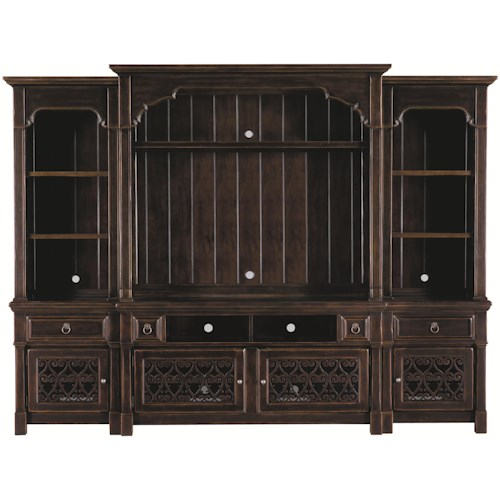Bernhardt Pacific Canyon Entertainment Unit with Lighted Piers