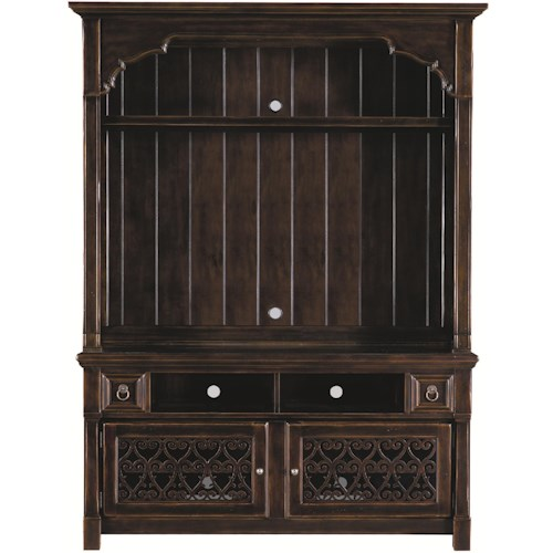Bernhardt Pacific Canyon Entertainment Unit with Laser-cut Wood Overlays