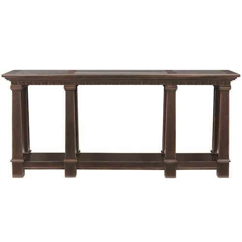 Bernhardt Pacific Canyon Console Table with Tempered Glass Panels