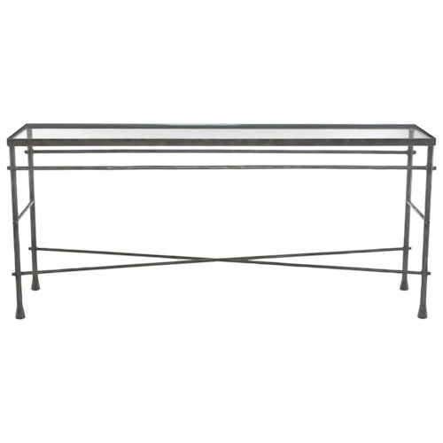 Bernhardt Pollard Console Table with Glass Top