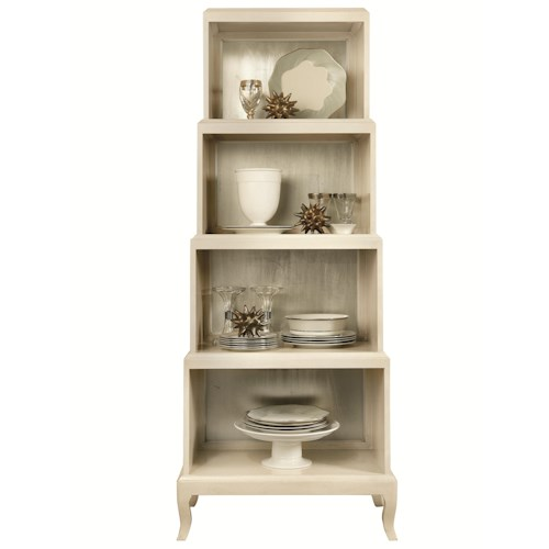 Bernhardt Siberia 4 Shelf Etagere with Shaped Legs