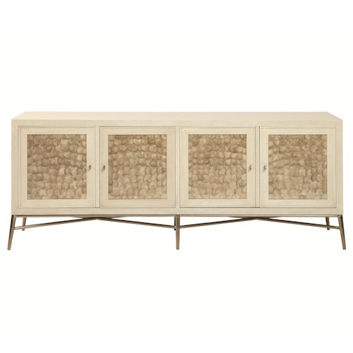 Bernhardt Salon 4 Door Buffet with Inset Capiz Shells