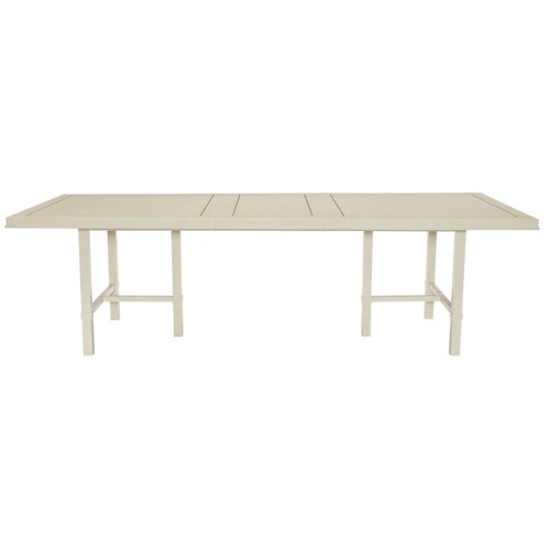 Bernhardt Salon Dining Table with Inlaid Metal Border