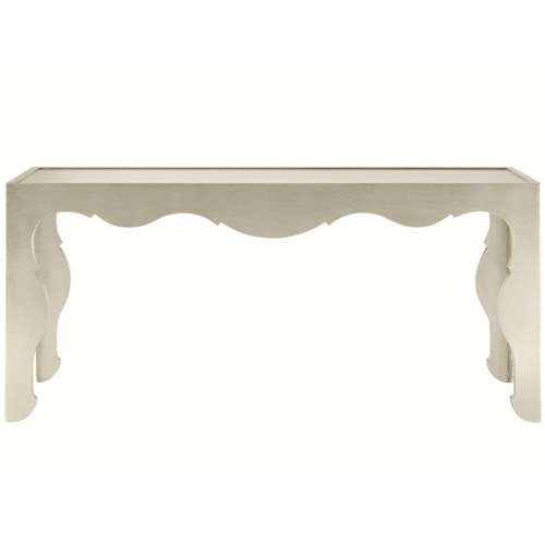 Bernhardt Salon Rectangular Console Table with Decorative Shaped Apron