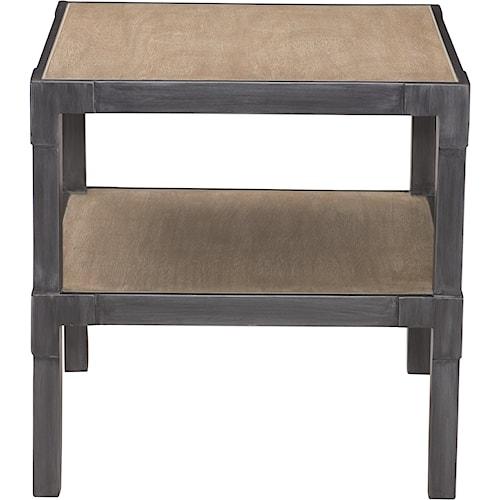 Bernhardt Saxton Side Table with Shelf