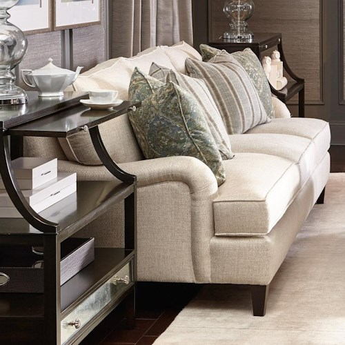 Bernhardt Signature Seating Custom 3 Seat Sofa with Flaired Arms