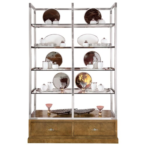 Bernhardt Soho Luxe Contemporary Display Cabinet with 8 Shelves