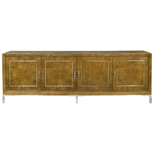 Bernhardt Soho Luxe Contemporary Console with Wire Management