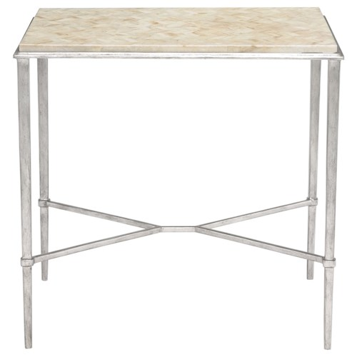 Bernhardt Solange Side Table with Stone Top